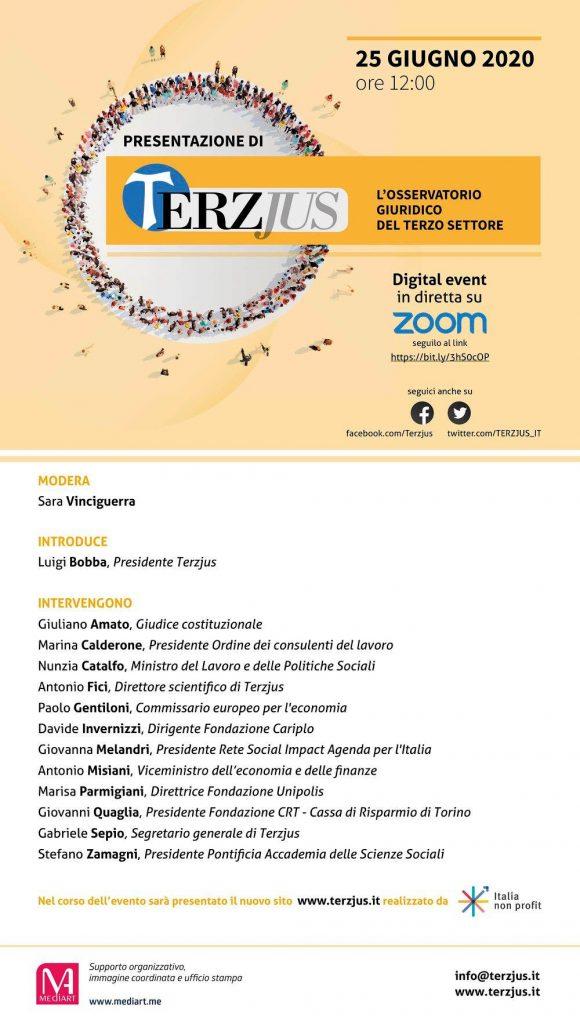 Programma evento Terzjus 25 giugno